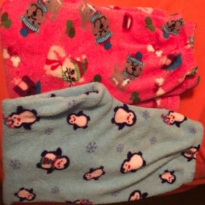 2 pair fleece comfy pants